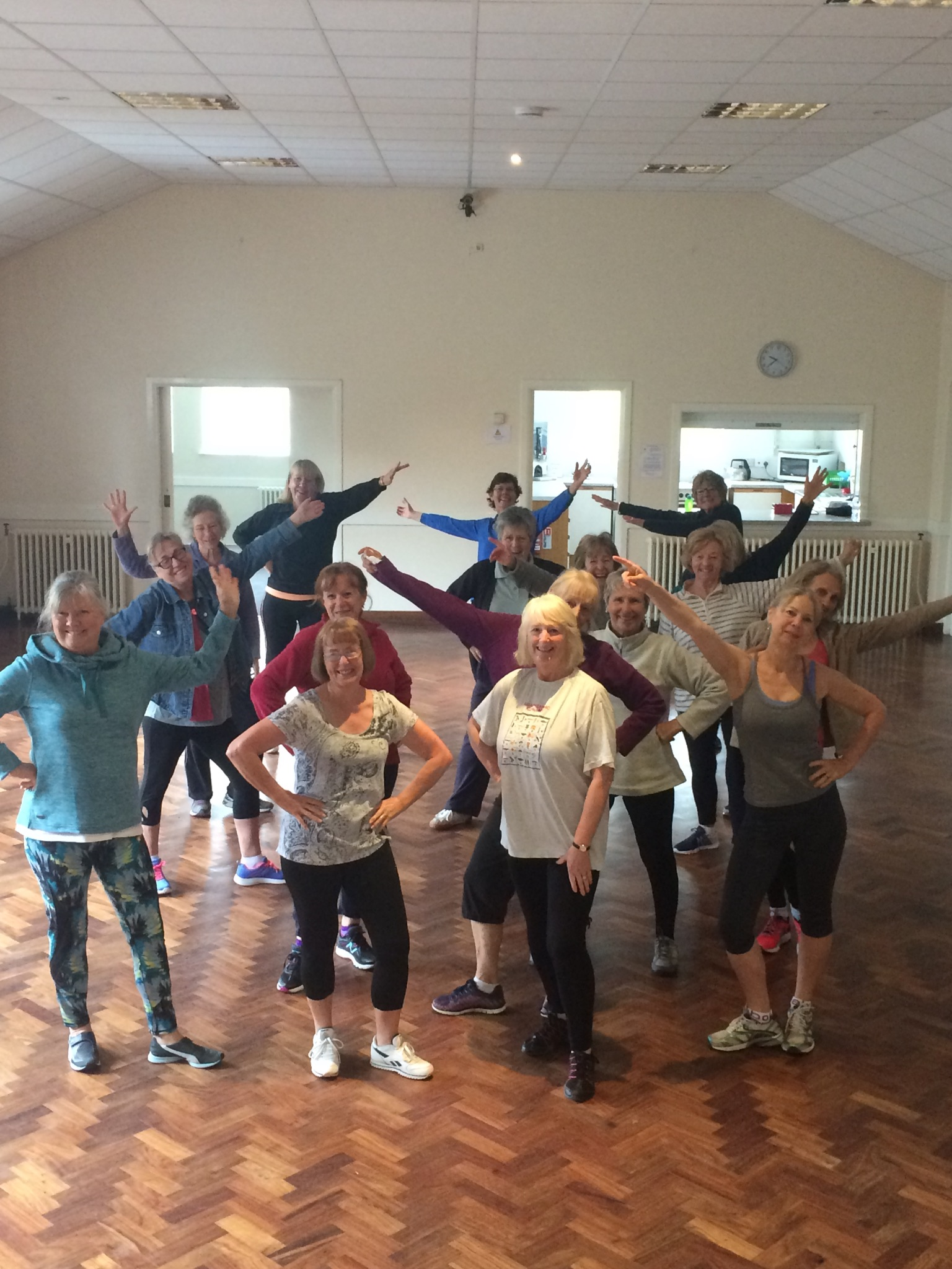 photo of people enjoying Zumba