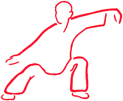clip art drawing of a person performing Tai Chi